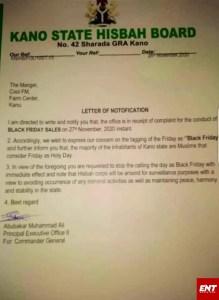 Breaking: Kano Police Bans Black Friday Says Its Immoral.