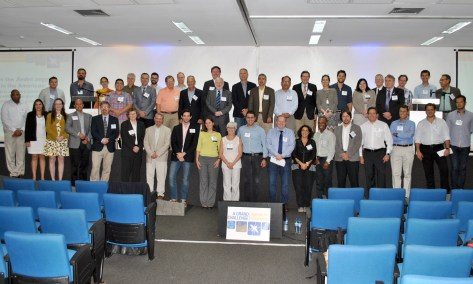 A group shot of most of the attendees at the Summit.