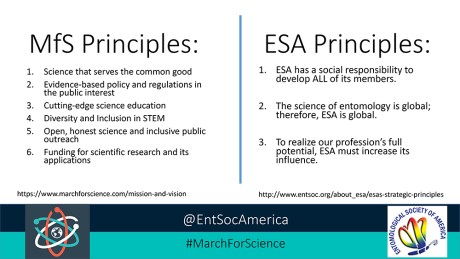ESA and March for Science principles
