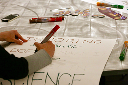 march for science signmaking