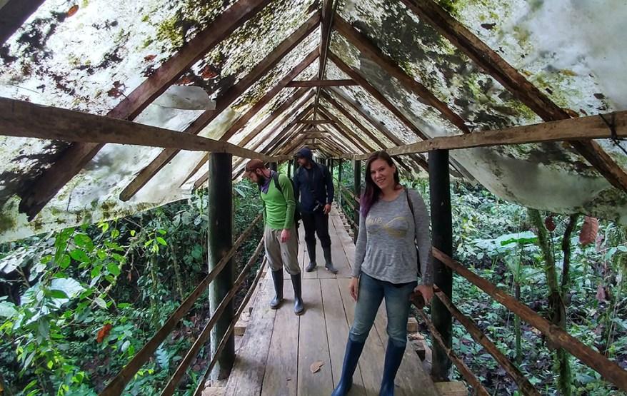 Nancy Miorelli guiding tour in Ecuador