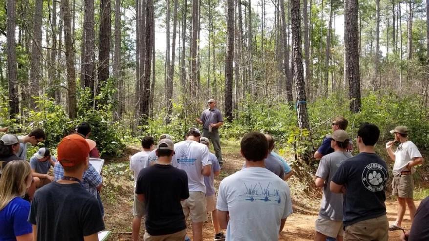 Dave Coyle teaching Clemson Forest Health