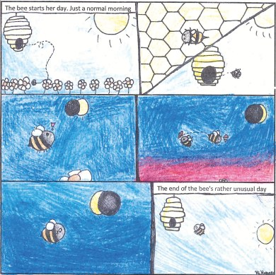 bee eclipse student art