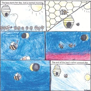 bee eclipse student art