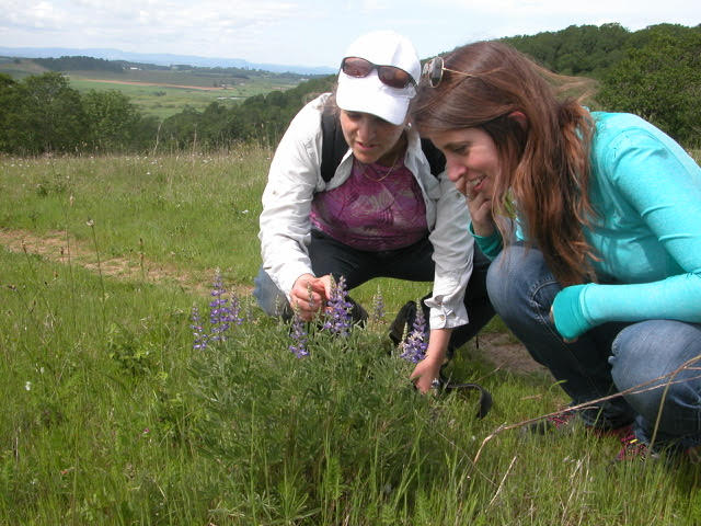 Cheryl Schultz and Norah Warchola - field research