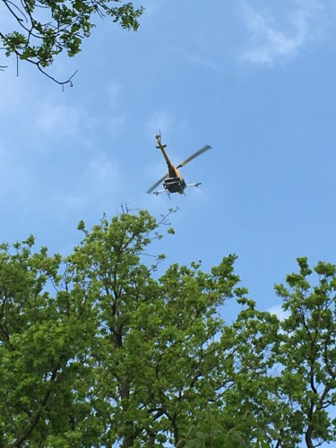 UAV in aerial spraying field study