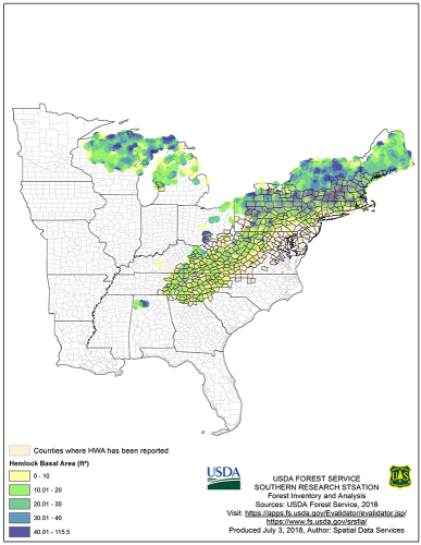 hemlock woolly adelgid map