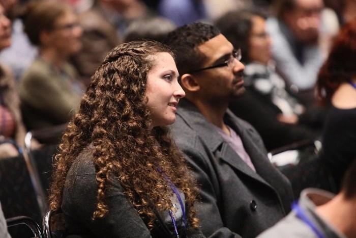 Symposium audience members