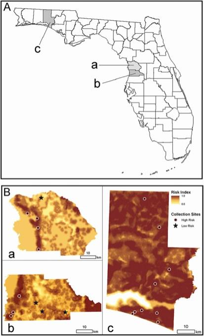 mosquito habitat study map