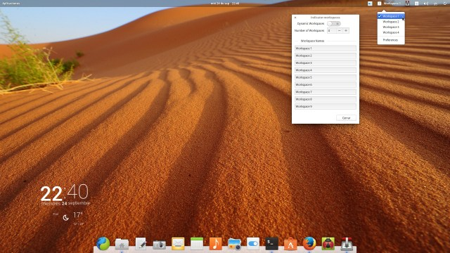 elementary OS 0.3 Workspace Indicator
