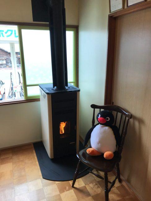 無電源ペレットストーブ ペンギン