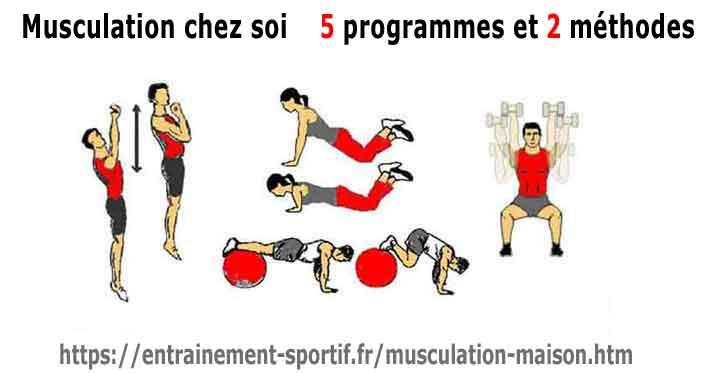 musculation a la maison 5 programmes