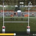 Entrainement Rugby : travail du jeu au pied