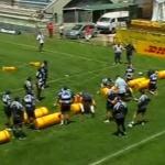 Exercice rugby combat et arrachage