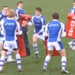 Exercice rugby avec passage en force