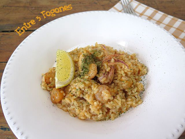 Arroz con Gambas y Chopitos