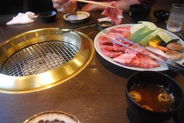 Carne de Hida en Takayama