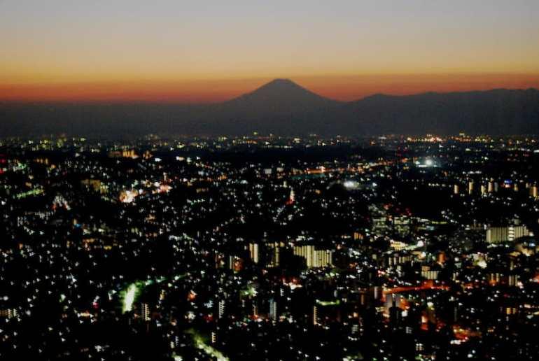 Vistas del Monte Fuji desde Yokohama
