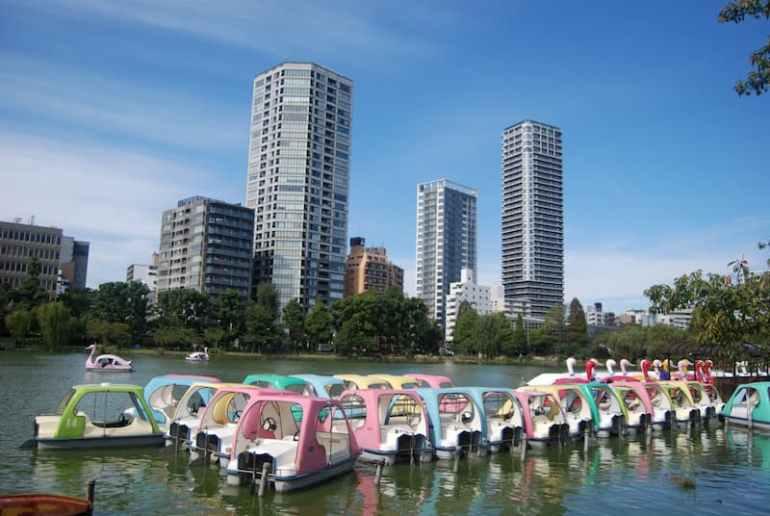 Parque de Ueno y barquitas