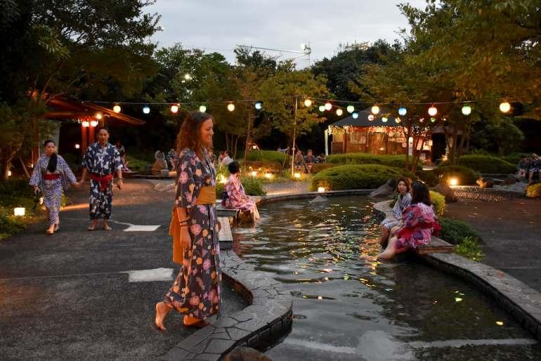 Oedo Onsen Monogatari en Odaiba, Tokio
