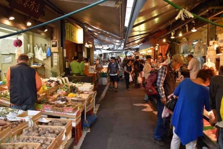 Lonja de pescado Tsukiji en Tokio