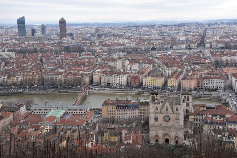 Vistas de Lyon desde la Colina de la Fourviere