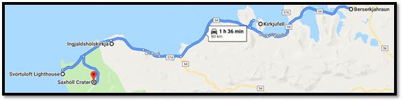 Mapa de nuestra ruta a Islandia en 12 días con niños