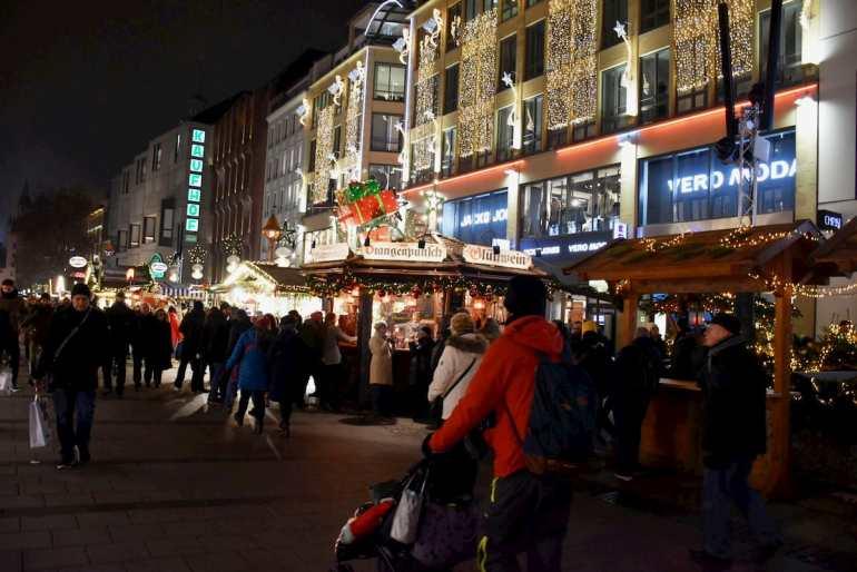 Calles de Múnich en Navidad