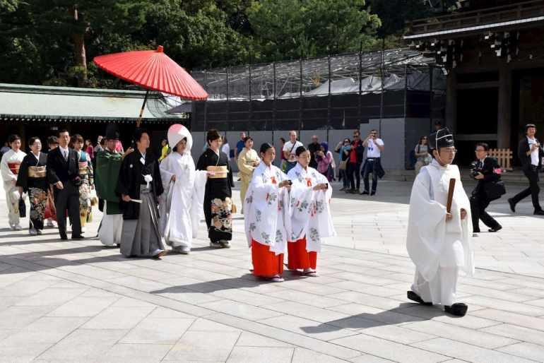 Una boda japonesa en Harajuku