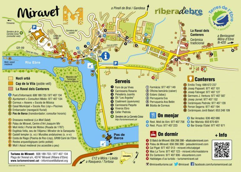 Mapa de Miravet