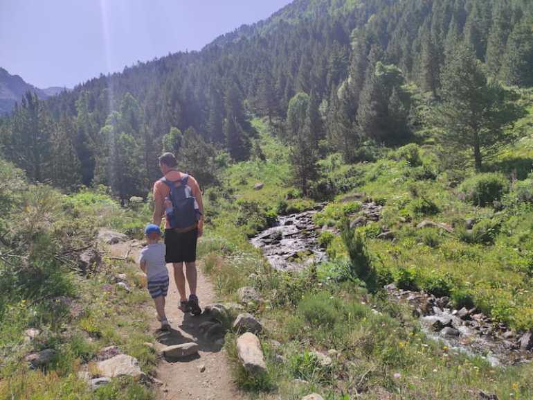 Andorra con niños en verano