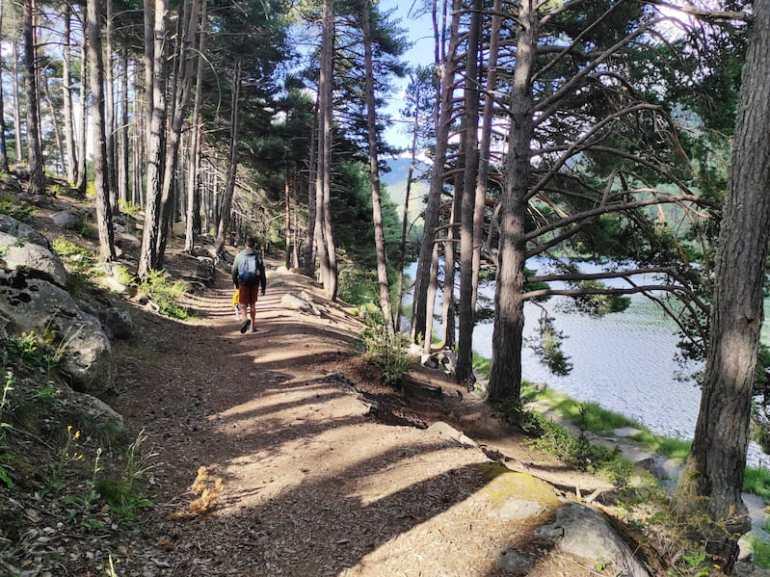 Camino del Lago de Engolasters