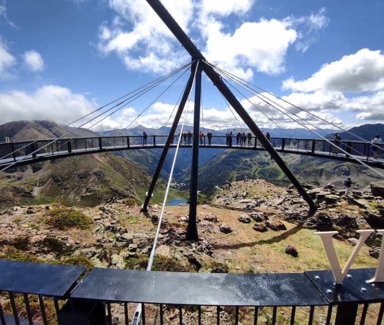 Mirador solar de Tristaina en Andorra