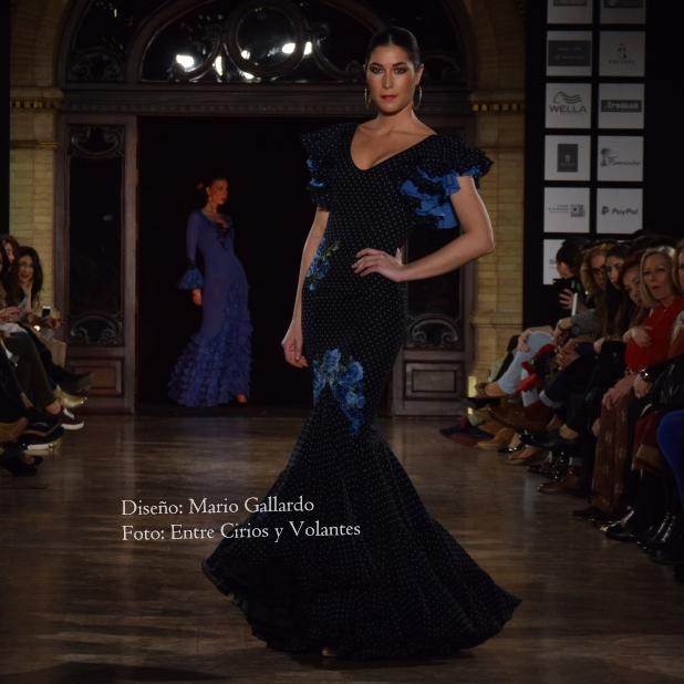 Trajes flamenca azul pavo