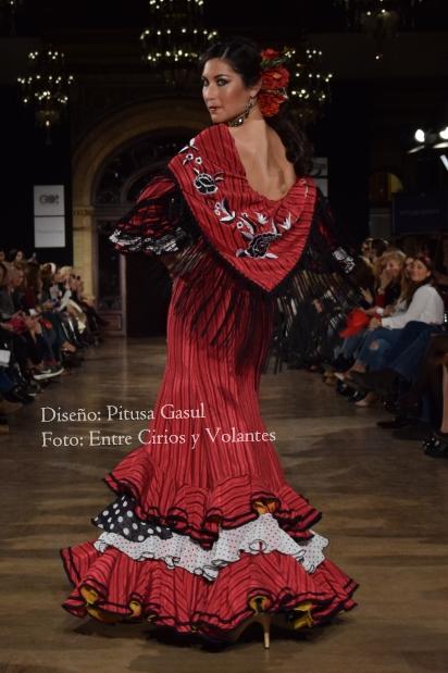 trajes de flamenca rojos pitsa gasul