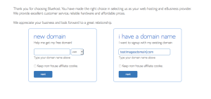 how to start a blog with domain name