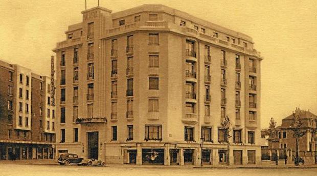 Hotel-restaurant Malherbe à Caen dans les années 30.