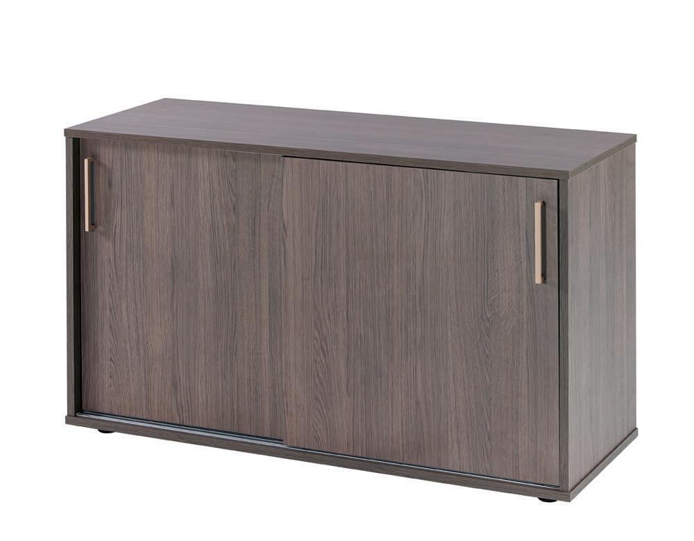 armoire basse bureau porte coulissante
