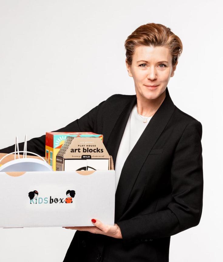 Dominique Bissot, fondatrice de KidsBox, la box de jouets des 0 à 6 ans