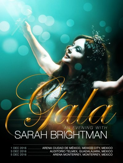 Sarah Brightman Auditorio Telmex 2016