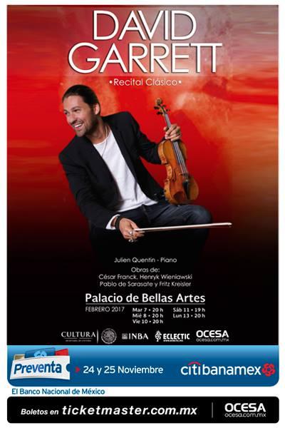 David Garrett Palacio de Bellas Artes