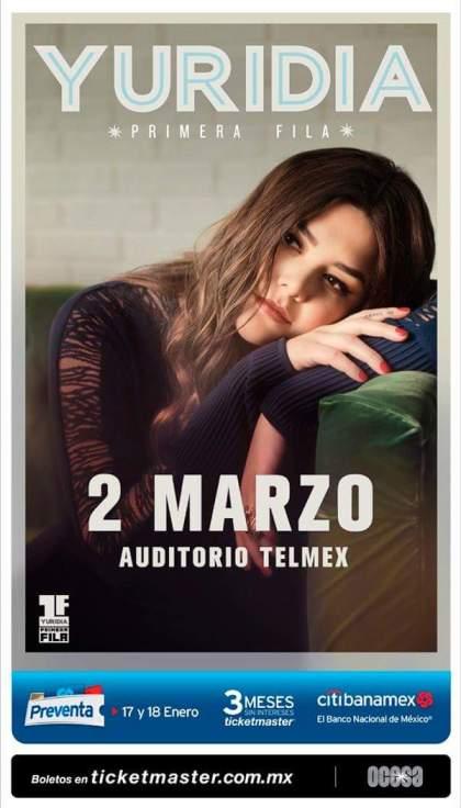 Yuridia Auditorio Telmex 2018