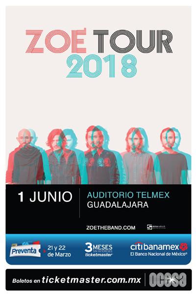 Zoe Auditorio Telmex 2018