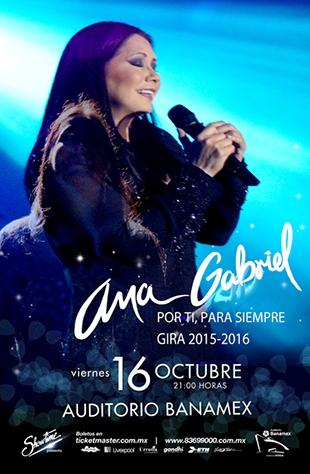Ana Gabriel Auditorio Banamex