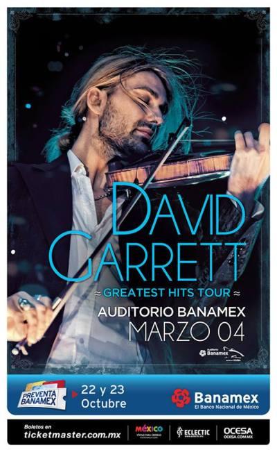 David Garrett Auditorio Banamex 2016