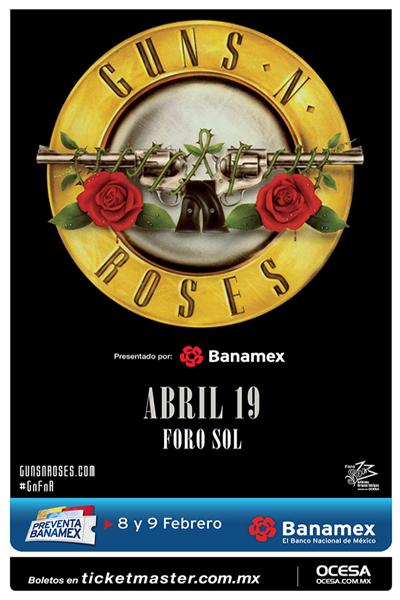 Guns N' Roses Foro Sol 2016