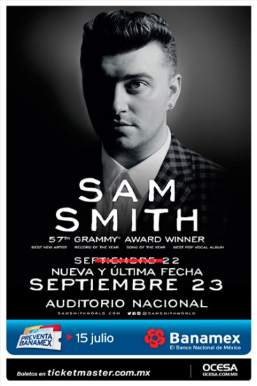 Sam Smith Auditorio Nacional