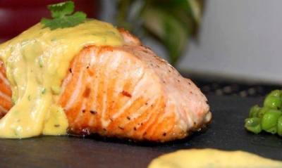 salmon crema naranja
