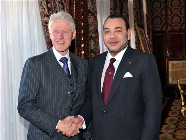 Clinto y Mohamed VI en Rabat. / MAP