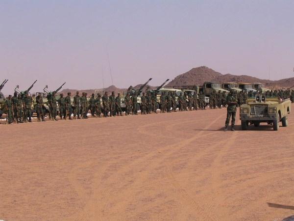 Tropas del Frente Polisario en Tifariti. / W.P